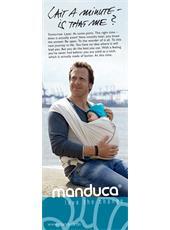 """manduca® Sling Poster 30x80 EN """" Wait a minute..."""""""