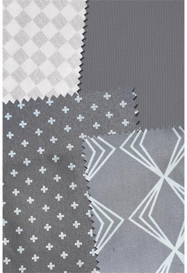 manduca® DIY fabric package grey/ WildCrosses