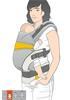 bellybutton by manduca® XT ZipIn  Cotton sand-uni